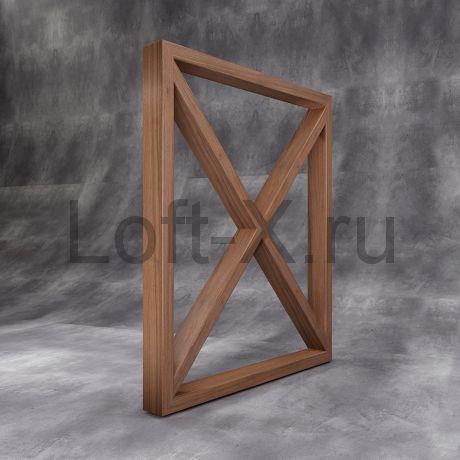 """Деревянная опора стола - """"Дизайн XO"""""""
